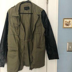 Olive and black jacket
